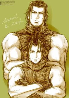 Angeal Hewley and Zack Fair, mentor and student, of Final Fantasy VII: Crisis Core