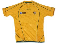 Australia Kooga Australia Rugby World Cup Shirt 2011 Official Australia 2011 Rugby World Cup Home Shirt available to buy online. This is the official Australian Rugby Jersey worn in the 2011 Rugby World Cup Finals. The shirt is manufactured by Kooga and http://www.comparestoreprices.co.uk/football-shirts/australia-kooga-australia-rugby-world-cup-shirt-2011.asp