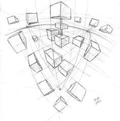 One-Point Perspective. One vanishing point is typically