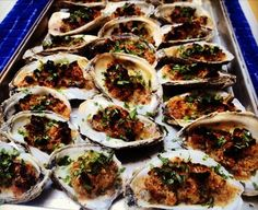 Baked Oysters Recipe on recipe on MoreYou can find Oysters and more on our website.Baked Oysters Recipe on recipe on Appetizers For A Crowd, Easy Appetizer Recipes, Fish Recipes, Seafood Recipes, Cooking Recipes, Healthy Recipes, Food52 Recipes, Clam Recipes, Party Recipes