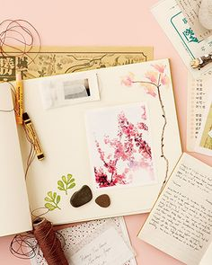 The Zen of Scrapbooking - Martha Stewart Crafts how to pick a theme for your new scrapbook project Martha Stewart Crafts, Creative Journal, Art Journal Pages, Art Journals, Travel Journals, Nature Journal, Travel Scrapbook, Scrapbook Photos, Art Journal Inspiration