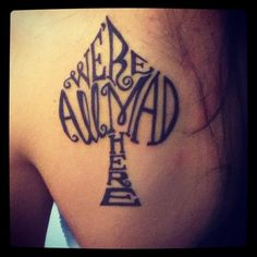 alice in wonderland tattoo <3