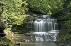 Gorge Waterfalls in New York's Finger Lakes region.