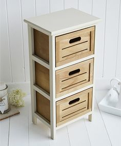 Providence side lamp table with drawers - White Cottage Living Room and Hall Furniture