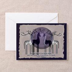 DaneDeer Holiday Card (Pk of 10) on CafePress.com