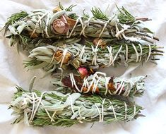 How To Make Sage Bundles with Roses Evergreen Sprigs - The Chalkboard Smudging Prayer, Sage Smudging, Magic Crafts, Diy Holiday Gifts, Practical Magic, Smudge Sticks, Herbal Medicine, Natural Medicine, Drying Herbs