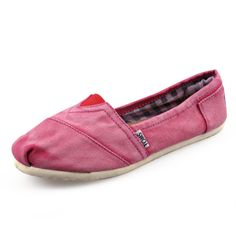 High Quality And New Style Of Toms Stone-Washed Women Shoes Red Is Waiting You To Purchase! #Shoes