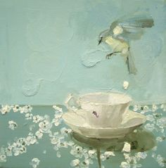 Susan Homer, artist in A Bird's Tale, new paintings and works on paper January February 2005 at Metaphor Contemporary Art Gallery in Brooklyn, NY. Tea Art, Mint, Art Institute Of Chicago, Illustrations, Art Plastique, Bird Art, Watercolor Illustration, Creative Inspiration, Oeuvre D'art