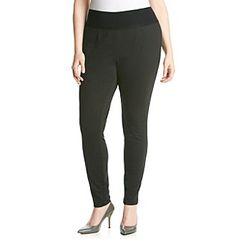 AGB® Plus Size Ponte Skinny Leggings