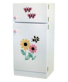 Look at this #zulilyfind! White Daisy Pretend Refrigerator by A&L Furniture #zulilyfinds