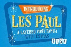 Les Paul • Font Family By Vintage Voyage