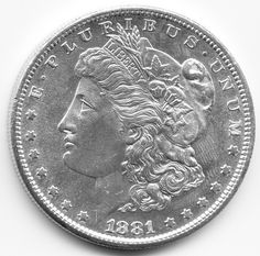 1881 SAN FRANSICO MINT UNITED STATES SILVER DOLLAR COIN, SILVER AND GOLD COINS FOR SALE IN LONDON, 1STSOVEREIGN.CO.UK