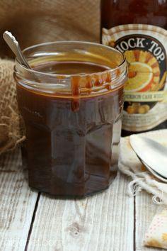 Salted Honey-Bourbon-Beer Caramel Sauce #beermonth by @Heather Creswell Schmitt-Gonzalez