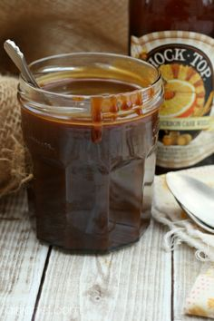 Salted Honey-Bourbon-Beer Caramel Sauce #beermonth by @Heather Schmitt-Gonzalez