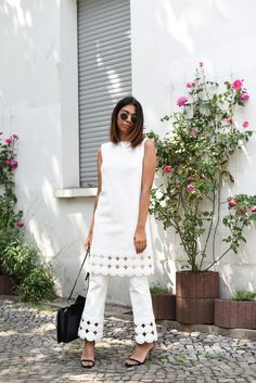 Let #ESCADAEscapes take you on a summer trip - wearing the perfect all-white outfit
