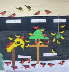 Talitintit ja punatulkut talviruokintapaikalla Winter Crafts For Kids, Winter Kids, Winter Art, Winter Christmas, Art For Kids, Feeding Birds In Winter, Projects For Kids, Art Projects, Animal Crafts