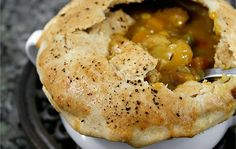 Vegetarian Pot Pie with Fennel, Butternut Squash, Carrots, Corn and Peas