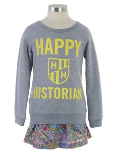 Celebrate a love of history! Perfect companion to our school-subject themed t-shirts (of math, reading, art, chemistry, and more). From Peek Kids Clothing, sizes 2-16.