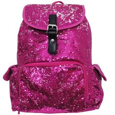 Bling Sequins Large Backpack Hot Pink Go Cheer Bag Gym Dance Bags Wholesale 62ecb38794a5d