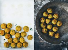 Vegan meatballs from Green Kitchen Stories - saw these and thought of you, same for the hot chocolate. Vegetarian Recipes Easy, Entree Recipes, Veggie Recipes, Vegan Vegetarian, Healthy Recipes, Meal Recipes, Vegetarian Meatballs, Green Kitchen, Vegan Dishes