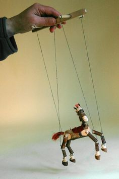 Marionette puppet horse made of branches. Something to try with the boys.