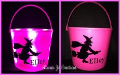 LED Light Up Halloween Bucket Basket Candy by LaurenJoCreations