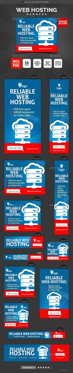 Web Hosting Banners Template #design Download: http://graphicriver.net/item/web-hosting-banners/12594320?ref=ksioks