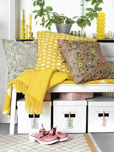 bright and fresh lemon colours will brighten any interior!