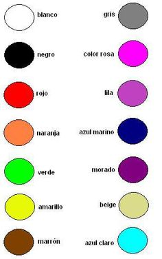 1000 images about spanish colores on pinterest spanish for Colors in spanish