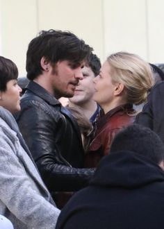 """Colin O'Donoghue and JEnnifer Morrison - Behind the scenes - 5 * 23 """"An Untold Story"""" - 28 March 2016"""
