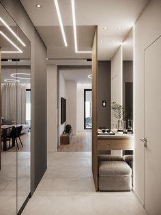 Modern Home Interior Design, Minimalist Home Interior, Luxury Homes Interior, Interior Design Living Room, Living Room Designs, Loft House Design, Home Room Design, Flur Design, Hallway Designs