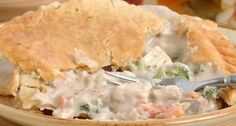 This Homemade Chicken Pot Pie With A Flaky Golden Brown Crust & Rich Filling Came Out Perfect