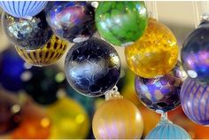 Will Shakspeare's glass baubles. I have several of these and keep adding to my collection. He makes beautiful glass vessels of all types.