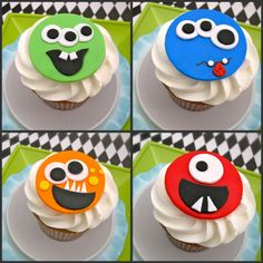 Monster Party Fondant Toppers