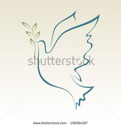 Peace Dove With With Olive Branch. Stock Vector Illustration ...