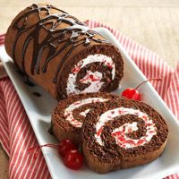 Ive made this twice, and everyone loves it! you can easily modify it to make it even healthier. I used whole wheat flour instead of white, and next time I plan to try using stevia in place of sugar.    Black Forest Cake Roll - very healthy recipe!