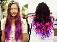 Hair Chalk – Como fazer mechas coloridas no cabelo com giz pastel cabelos castanhos
