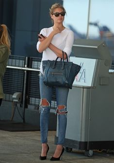KATE UPTON STREET STYLE - (Discover Sojasun Italian Facebook, Pinterest and Instagram Pages!)