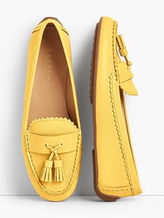 You'll be a standout in our Everson Driving Moccasins - only at Talbots! Loafer Shoes, Wedge Shoes, Shoes Heels, Loafers, Mocassin Shoes, Flats, Shoes Sneakers, Studded Heels, Driving Moccasins