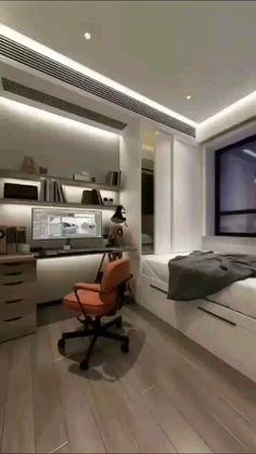 Small Room Design Bedroom, Small Bedroom Interior, Small House Interior Design, Bedroom Furniture Design, Bedroom Setup, Home Room Design, Modern Bedroom, Diy Bedroom Decor, Furniture Layout