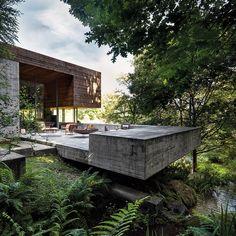 Casa Top, Modernisme, Forest House, Outdoor Fire, Modern House Design, Minimalist Design, Exterior Design, Modern Architecture, Outdoor Photos