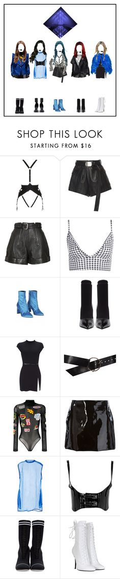 """""""Kpop Girl Group"""" by beyzalwaysperf ❤ liked on Polyvore featuring Bordelle, Carven, Boohoo, TIBI, Balenciaga, Wallis, Ann Demeulemeester, GCDS, Au Jour Le Jour and Givenchy"""