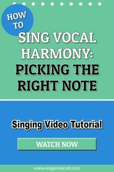 How To Sing Vocal Harmony – Picking The Right Note #tutorial #singing #music
