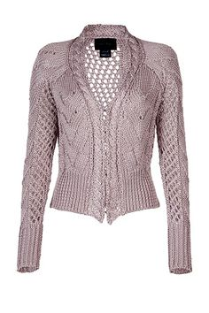 dusty rose knit cardi