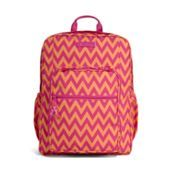 """Vera Bradley Lighten Up Large Backpack in Ziggy Zags SKU 13823-184 12 ¾"""" x 17"""" x 7 ½"""" with 32"""" adjustable straps and 33 ½"""" waist strap...Vera Bradley Details Lightweight, durable and water-resistant printed polyester     Two main compartments, each with its own double-zip closure     Front zip-down compartment with inside slip pocket, ID window, four pen holders and outside zip pocket     Side pockets fit water bottles Water Resistant 560D Polyester Material"""
