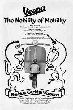 Publicité Vespa Années 1970