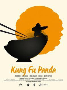 Kung Fu Panda (2008) ~ Minimal Movie Poster by Javier Lainez #amusementphile