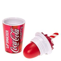 <P>Quench your thirst and hydrate your lips with the Lip Smacker® Cherry Coca-Cola™ Cup Lip Balm. In the shape of a real fountain drink cup, this lip balm delivers an authentic Cherry Coca-Cola™ taste. Simply twist the lid open and apply generously to ensure your lips are never chapped.</P><UL><LI>Lip balm made in USA <LI>Product of the The Coca-Cola Company <LI>All rights reserved <LI>© ...