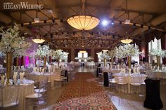 Zaya and Reame's lavish wedding filled with white orchids featured all kinds of pink throughout to honour the time of year: summer! Ballrooms, White Orchids, Table Settings, Chandelier, Ceiling Lights, Wedding Ideas, Pop, Home Decor, Popular