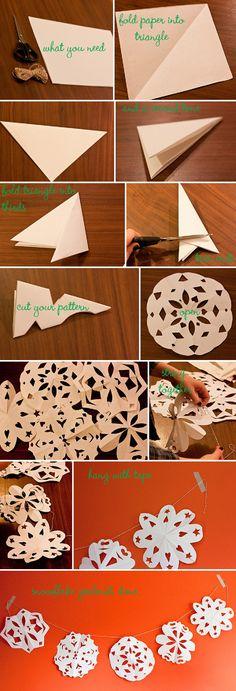Making a Paper Snowflake Garland, Sunday Ramble & Sneak Peek | Whimsical Wonderland Weddings  @Lori Westley Walker